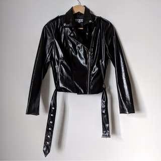 NEW I.AM.GIA Anarchy Biker Jacket in Black PU