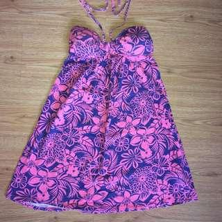 Pink Floral Sun Dress