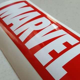 MARVEL Waterproof Vinyl Sticker - 5.7cm by 13.6cm
