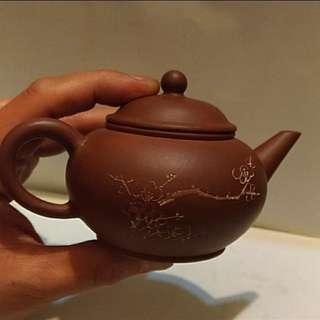 (售出)早期宜興紫砂水平壺