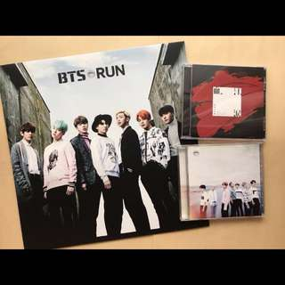 BTS Japan official YOUTH RUN blood sweat tears CD set