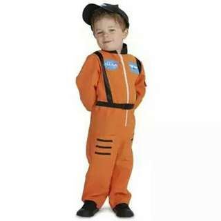 Orange Astronaut Toddler Costume