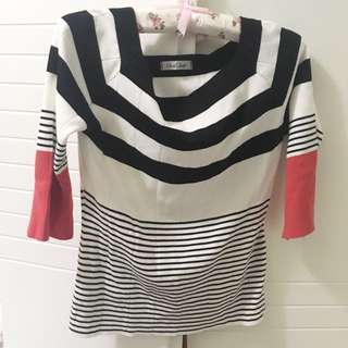$100/2 daily dolly striped top
