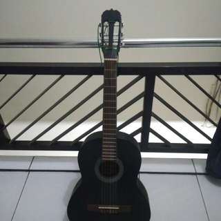Guitar custom full black nego