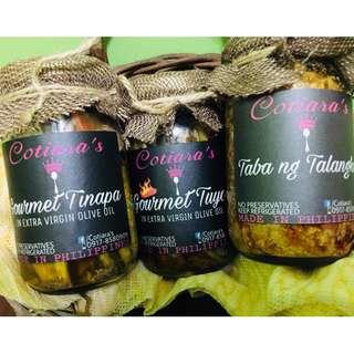 Gourmet Tuyo & Gourmet Tinapa in Olive Oil and Taba ng Talangka atbp.