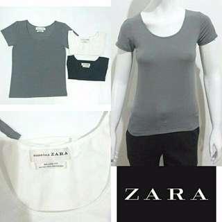 ZARA Essentials Relaxed Fit Tee (U Neck)