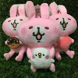 [小型]可愛的動物 卡娜赫拉系列-兔兔絨毛娃娃#粉紅兔兔#甜甜圈#愛心#小雞#kanahei/TXCOM