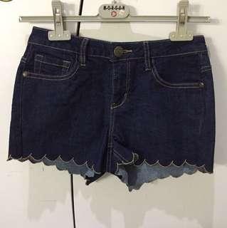 Cache-cache Denim Scallop Short Pants
