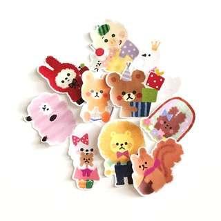(FREE NM🎉) Cute animal stickers