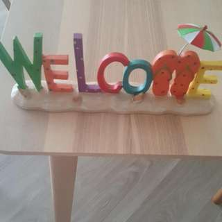 Home Decor Welcome Sign