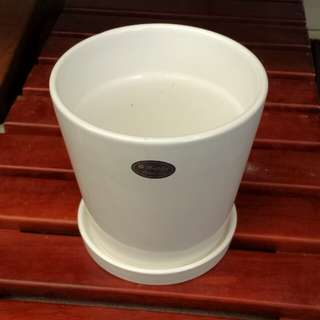 Planting Accessories - Porcelain Pot (13cm dia x 12.5cm ht)