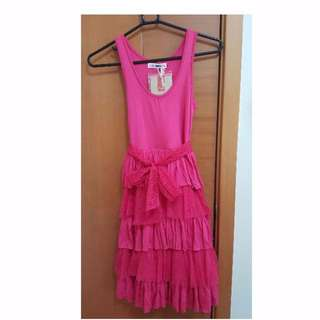 Brand New Fox Kids Pink Dress for Girls Size 12 Age 10-12 Yrs Old Height 140cm