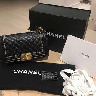 Chanel le boy bag size old medium