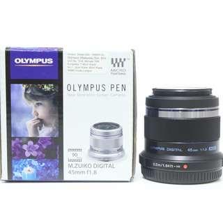 Olympus M.Zuiko 45mm f1.8 Lens