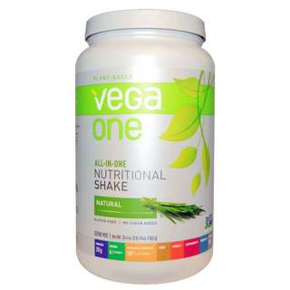 Vega One All-in-one Nutritional Shake Natural Plant-based No sugar added Gluten-free Certified Vegan Meal Replacement
