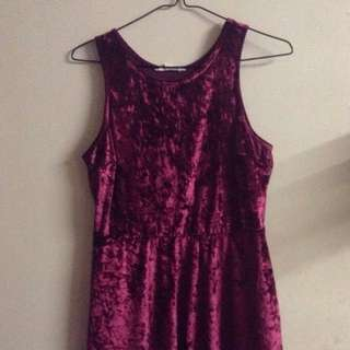 Short, Shiny, Velvet Dress
