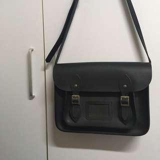 Cambridge style satchel bag genuine leather