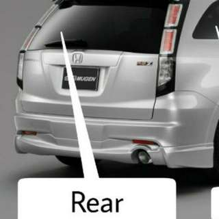 Magnetic shade for Rear  Honda Stream