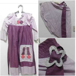 Baju muslim anak + kerudung - cuci gudang sisa toko