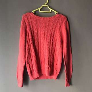 P&Co Dark Pink Knitted Sweater