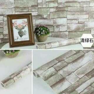 3D adhesive wallpaper