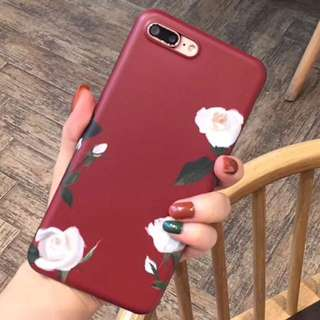 🌷Durable IMD Material made iPhone phone case Cover with Cute White Rose Flower pattern at the back🌷