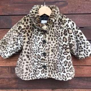 Baby GAP Leopard coat size 18-24m