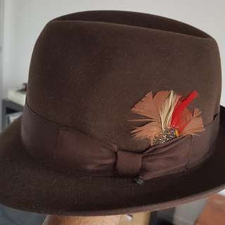 Akubra Hampton Fedora hat size 56. BNWOT