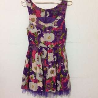 Purple mini dress