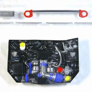 Team D 1/10 RC drift car shell with RB26 / SR20 / FA20   engine transparent models   All come in trAnsparent only