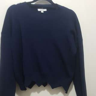 Navy Blue Cropped Sweater