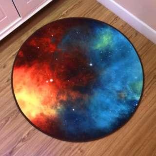 🚚 星空地墊 圓墊地毯 可機洗