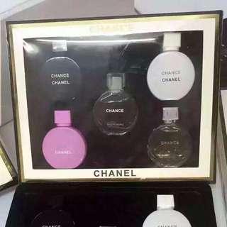 **Inspired**Miniature Chance Chanel Perfume White Box Set