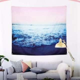 北歐海浪浪花 掛布背景布牆掛 牆壁裝飾