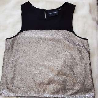 Mink Pink - Sequined Sleeveless Top - Size L
