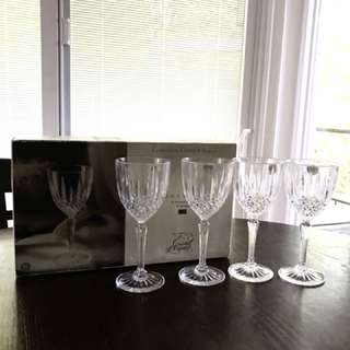 NEW!! Constance CRYSTAL 4 Wine Glasses