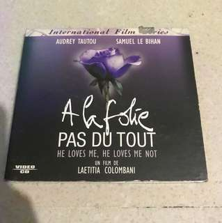VCD A la Folie Pas Du Tout He loves me He loves me not French