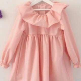 Peach dress anak
