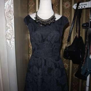 Zara black dress sz m
