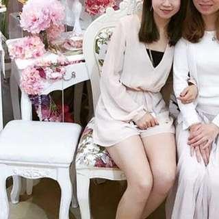 $100/2 topshop pale pink silk jumpsuit