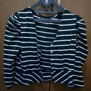 Stripes Blazer Black and White
