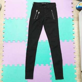 🚚 ASOS 黑色特級彈性緊身長褲XS uk6