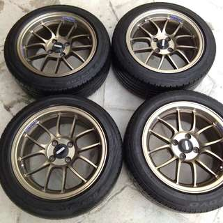 Sport Rim Rays 15 with tyres