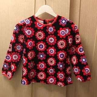 Marimekko floral print sleeve top ( baby girl 👧🏻)