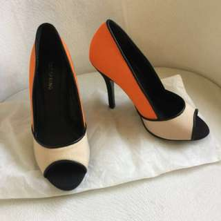 Call is Spring Color Block Heels. Brand new