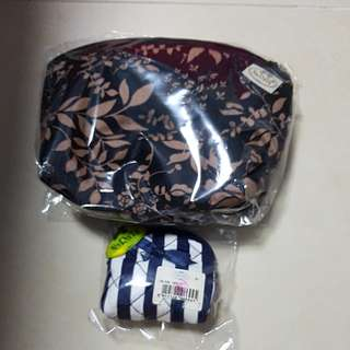 Naraya Pouch (key pouch with key chain and cosmetic pouch)