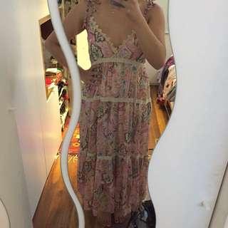 Long lace detail dress