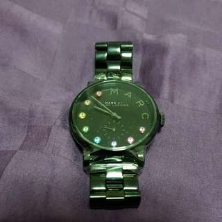 Marc By Marc Jacobs Black Ion Plated Stainless Steel Watch