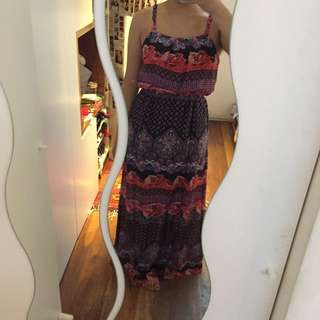 NEW Dotti w tags long floral dress w slits