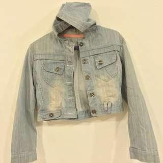 Hoodies with denim jacket